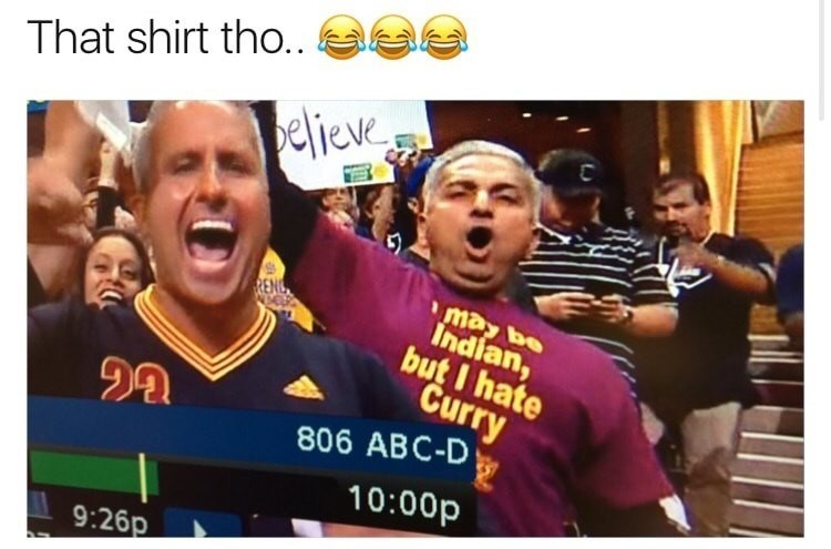 Facial expression - That shirt tho.. believe may be Indian, but I hate Curry 806 ABC-D 10:00p 9:26p