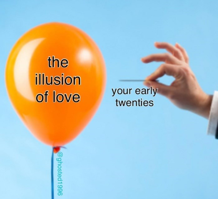 Balloon - the illusion your early twenties of love @ghosted1996