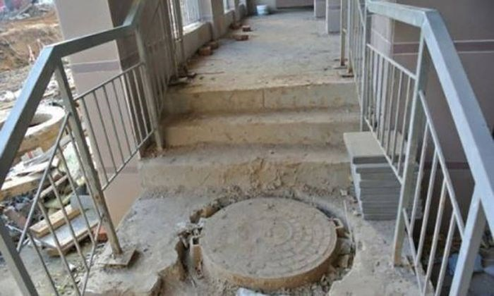 Stairs with hole