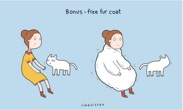 Cartoon - Bonus -free fur coat LiNGViSTOv