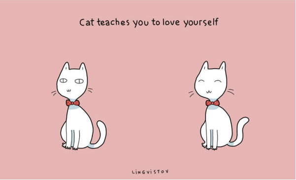Cartoon - Cat teaches you to love yourself LING VISTOV