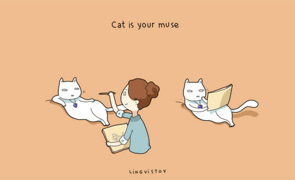 Cartoon - Cat is your muse LING ViSTOv