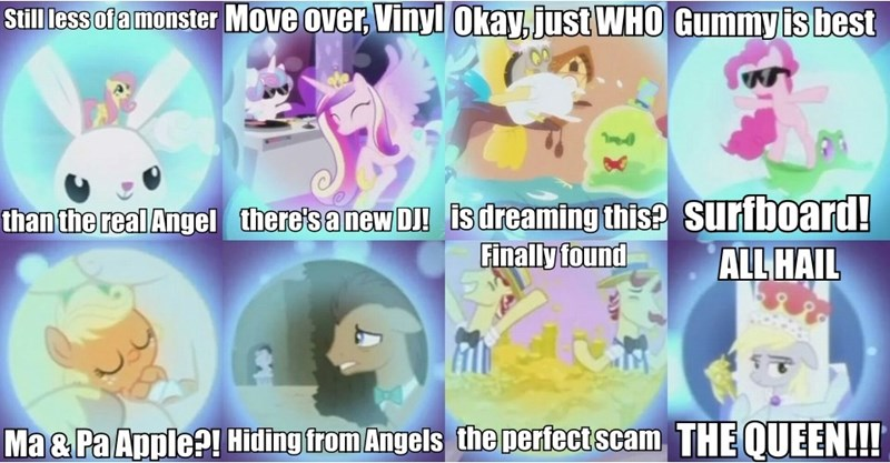 angel applejack discord princess cadence doctor whooves flurry heart derpy hooves weeping angels flim flam smooze a royal problem pinkie pie doctor who gummy twilicane fluttershy