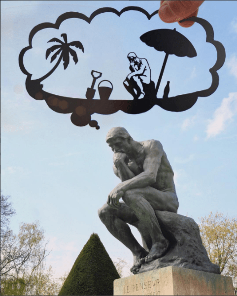 paper cutout on landmarks - Sculpture - LE PENSEVR EERT