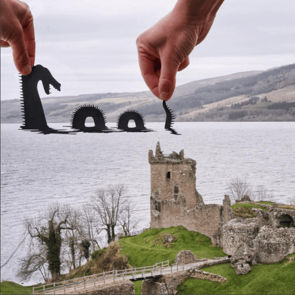 paper cutout on landmarks - Loch