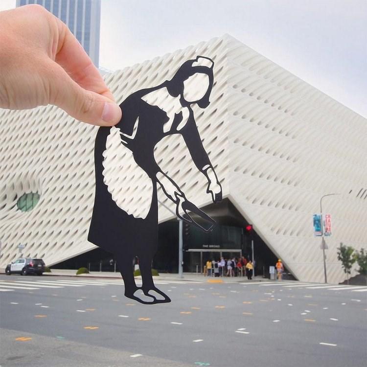 paper cutout on landmarks - Design