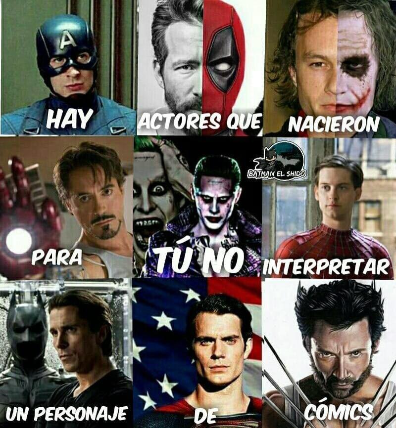 hay actores que nacieron para interpretar un personaje de comics