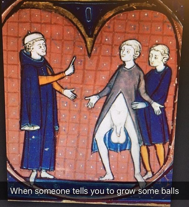 Art - When someone tells you to grow some balls