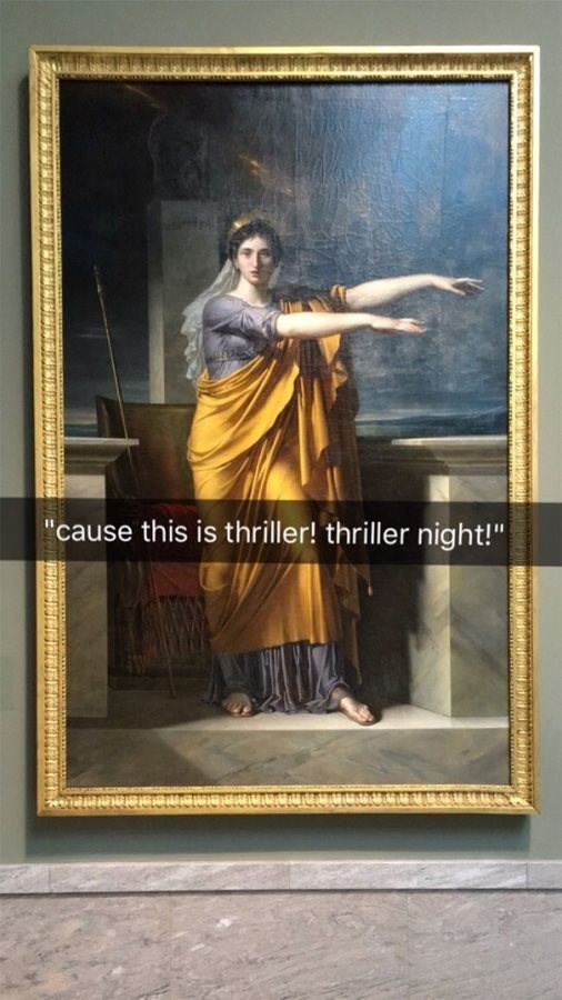 """Painting - """"cause this is thriller! thriller night!"""""""
