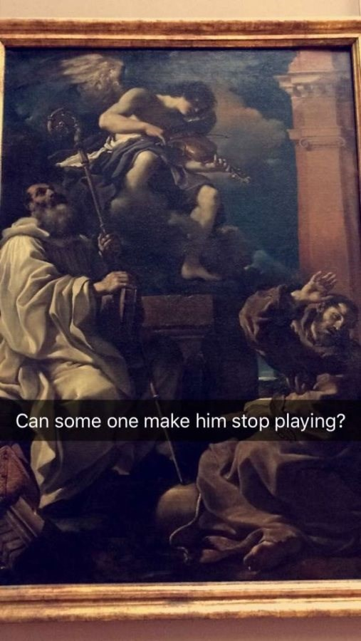 Art - Can some one make him stop playing?