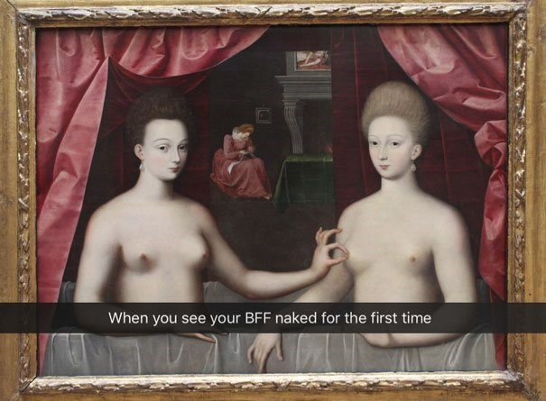 Picture frame - When you see your BFF naked for the first time