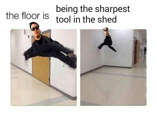 "dank meme about Smashmouth song in a game of ""the floor is lava"""
