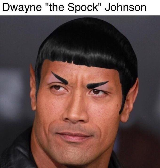 """Face - Dwayne """"the Spock"""" Johnson"""