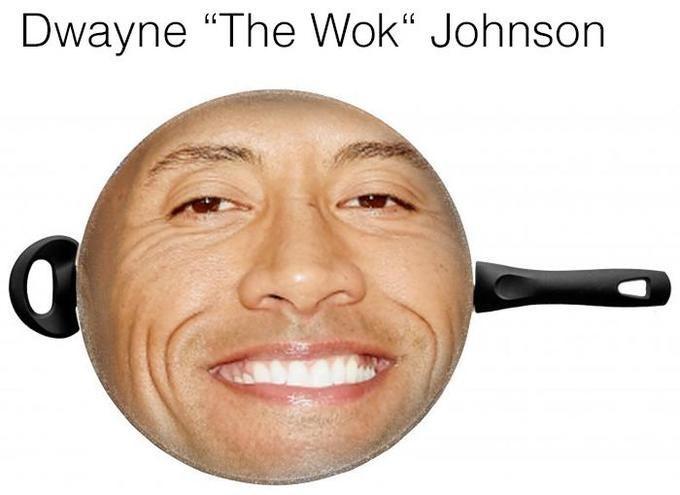 "Face - Dwayne ""The Wok"" Johnson"