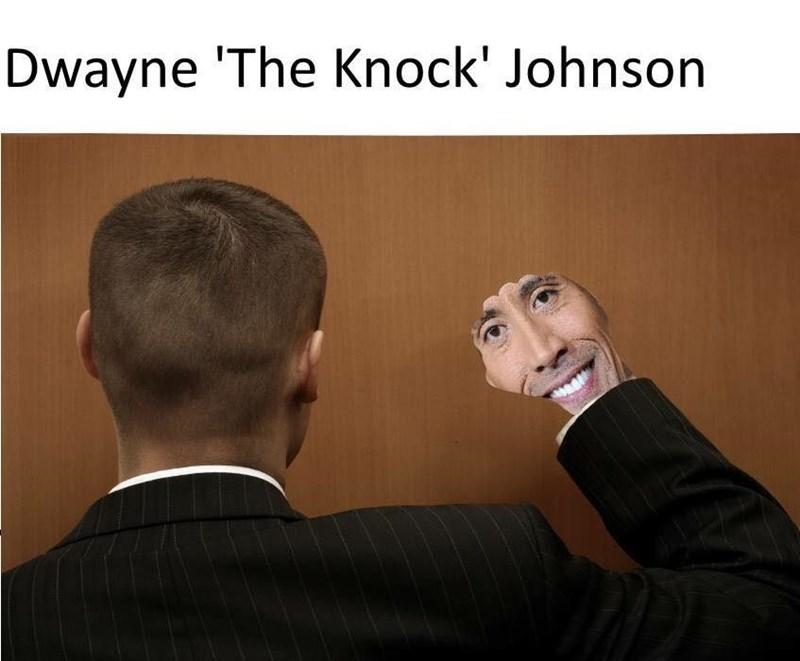 Text - Dwayne 'The Knock' Johnson