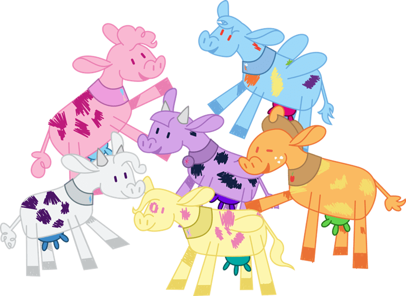 applejack fluttershy pinkie pie twilight sparkle rarity rainbow dash not asking for trouble walrus inc cowify - 9045462784