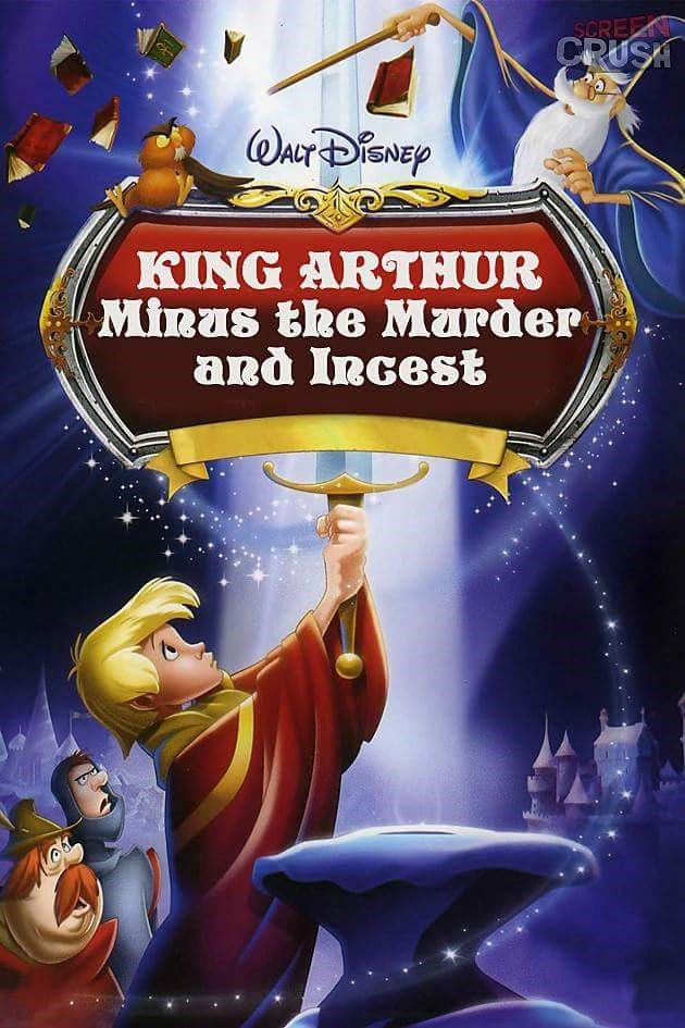 Cartoon - SCREEN CRUSA WaCrDEp KING ARTHUR Minas the Marder and Incest