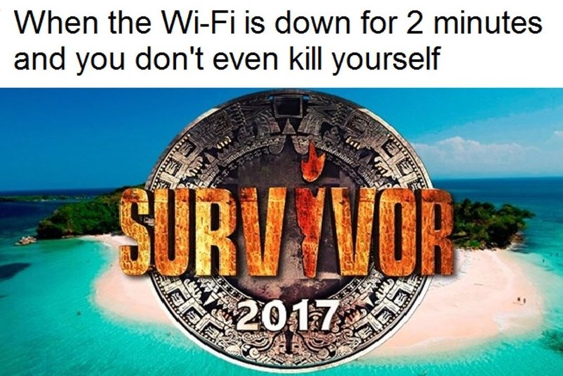 Tourism - When the Wi-Fi is down for 2 minutes and you don't even kill yourself SURU VOR 2017