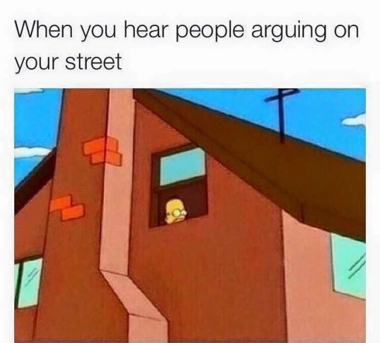 Roof - When you hear people arguing on your street
