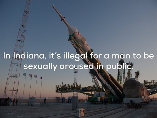 Crane - In Indiana, it'sillegal for a man to be sexually aroused in public