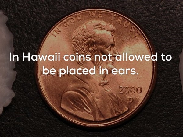 Coin - FRUS RGOD In Hawaii coins not allowed to be placed in ears. 2000