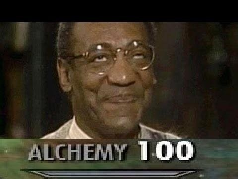 picture of Bill Cosby looking satisfied and maxed out Alchemy skill bar