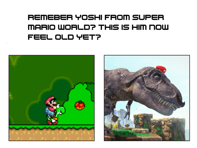 Dinosaur - REMEBER YOSHI FROM SUPER MARIO WORLD? THIS IS HIM NOW FEEL OLD YET?