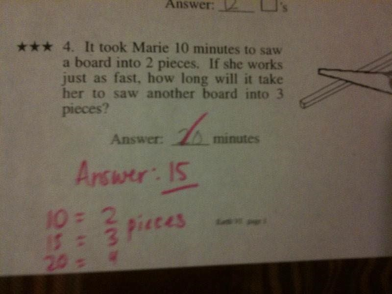 Seems the kid is smarter than the teacher with this exam question.