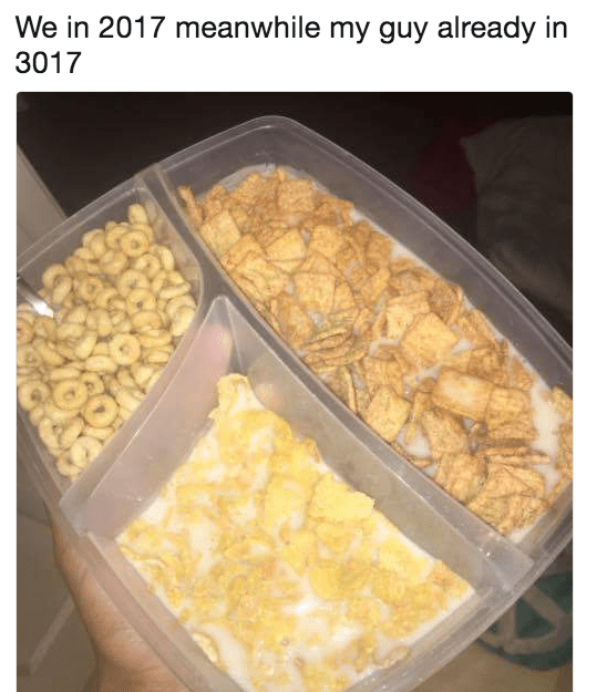 Food - We in 2017 meanwhile my guy already in 3017