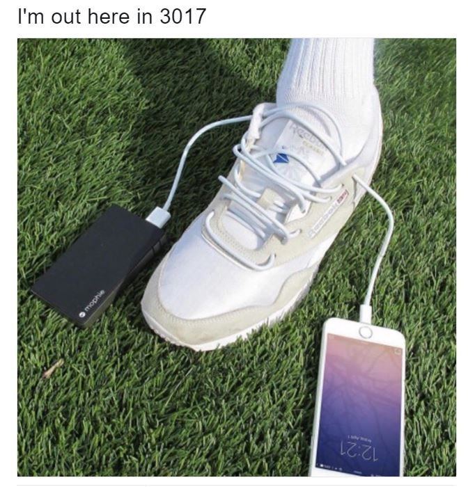 Footwear - I'm out here in 3017 12:21 mophie