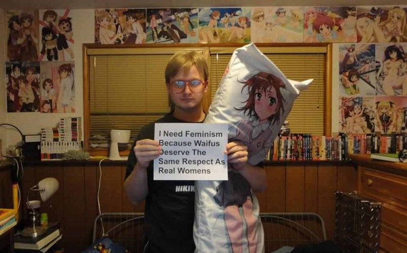 So much cringe post of man explaining why he needs feminism while holding his pillow girlfriend.