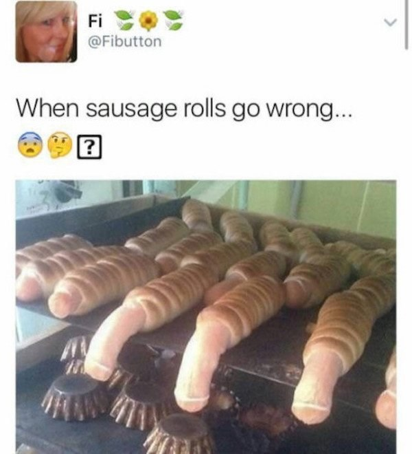 Phallic looking sausage roles that went wrong.