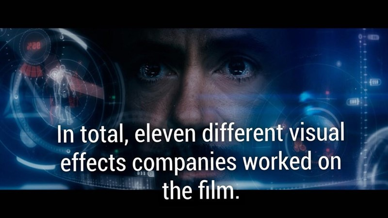 fun fact about Ironman and how eleven different visual effects companies worked on the film.
