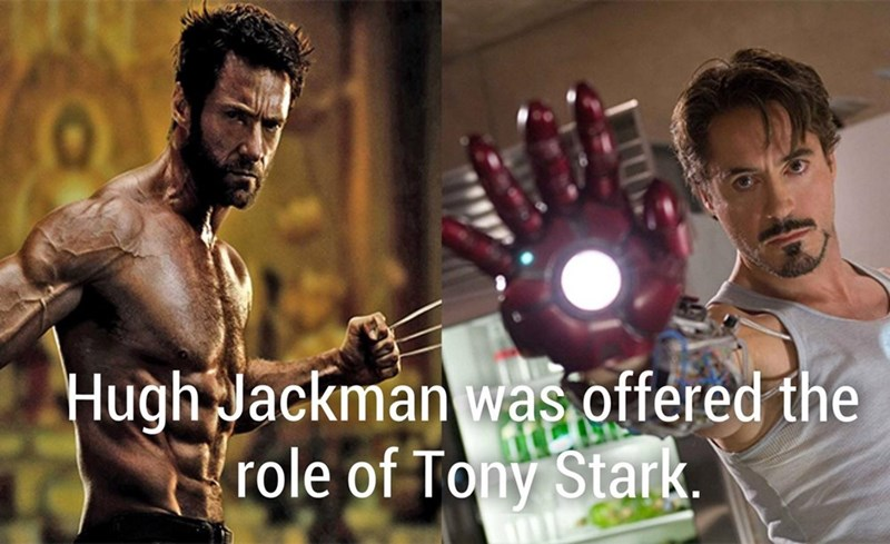 Wolverine and fun fact that Hugh Jackman was offered the role of Tony Stark for Ironman.