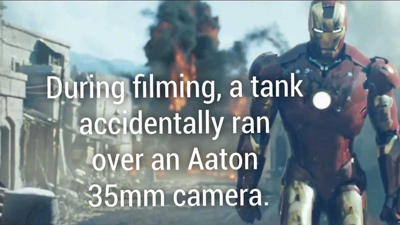 Ironman fun fact about how a tank accidentally ran over an Aaton 35mm camera