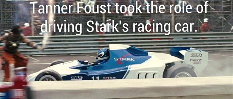 Fun fact how Tony Stark's care was driven by Tanner Foust