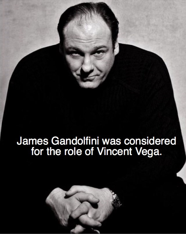 Text - James Gandolfini was considered for the role of Vincent Vega.