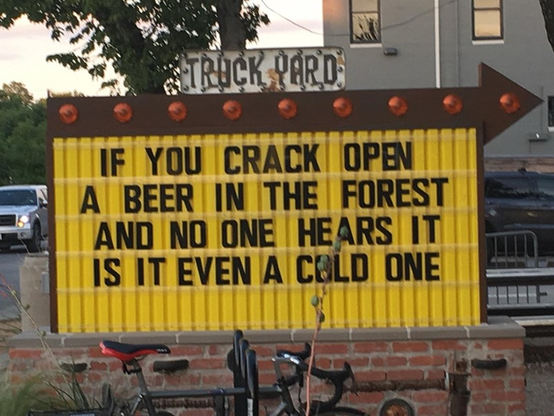 Font - TROCK PARD IF YOU CRACK OPEN A BEER IN THE FOREST AND NO ONE HEARS IT IS IT EVEN A CELD ONE