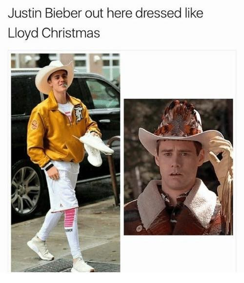 Hat - Justin Bieber out here dressed like Lloyd Christmas
