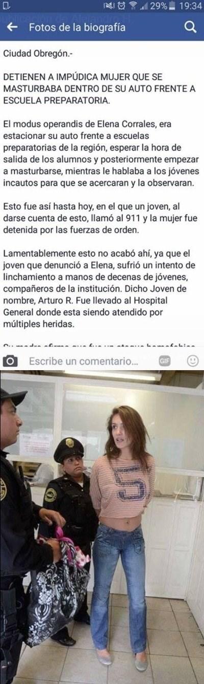 detienen a mujer que se masturbaba al frente de un centro educativo