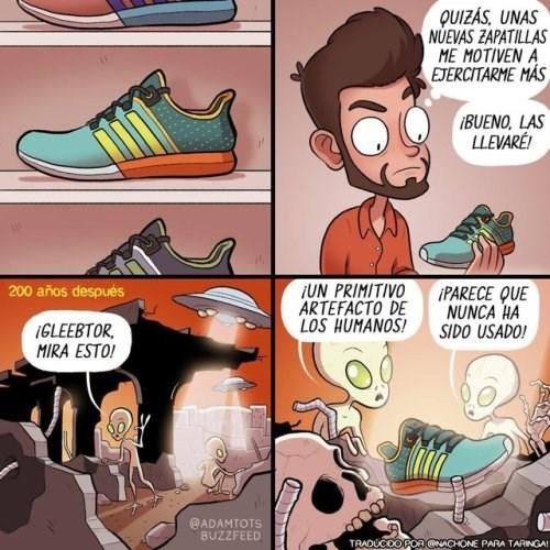 unas nuevas zapatillas tal vez me motiven a hacer ejercicio
