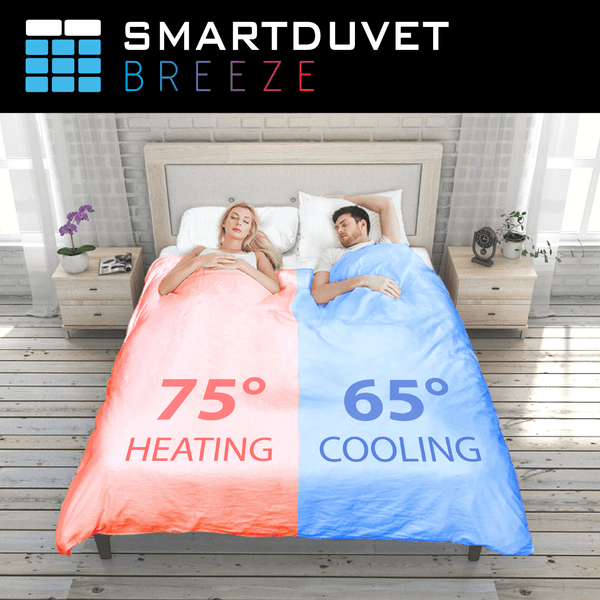 Each side of the bed has its own temperature settings