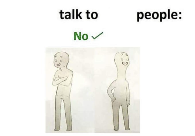 Text - talk to people: No