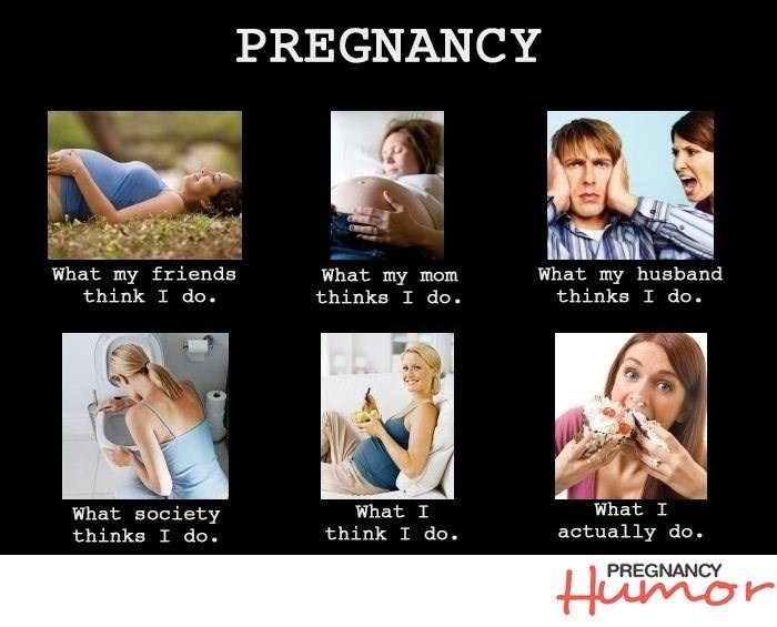 photo showing what I really do when i'm pregnant
