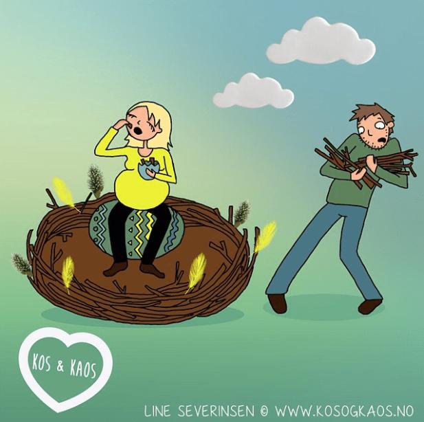 Cartoon - KOS &KAOS LINE SEVERINSEN WWW.KOSOGKAOS.NO