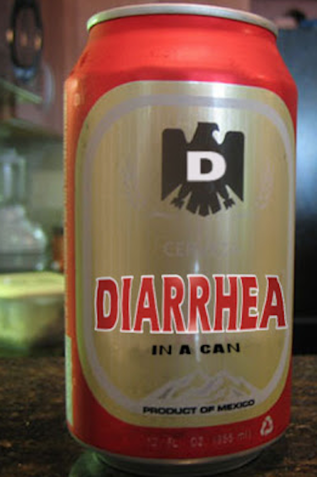 Beverage can - D CEP DIARRHEA IN A CAN PRODUCT OF MEXICO