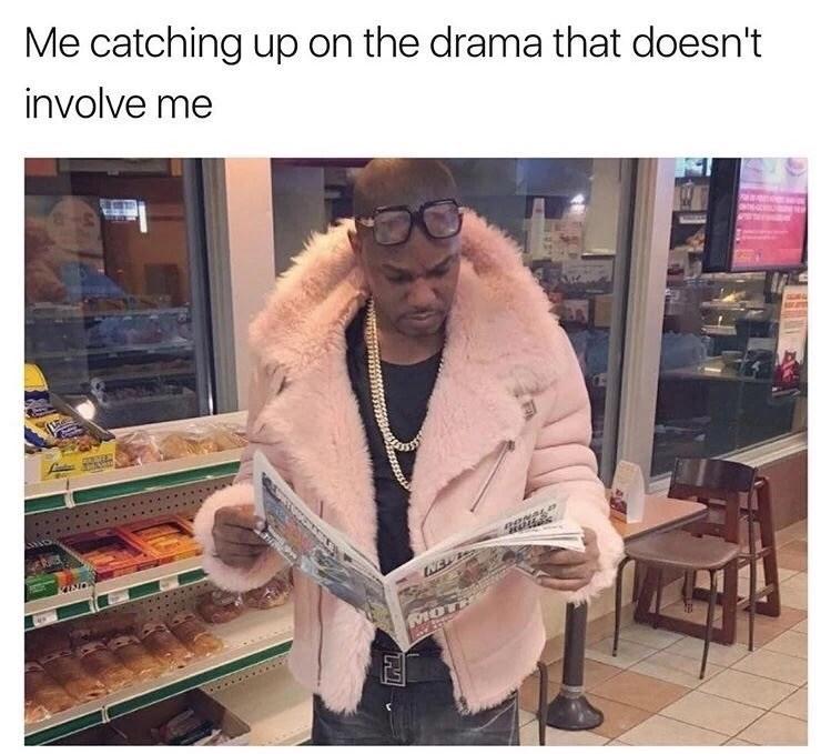 Thursday meme about enjoying drama that you're not in