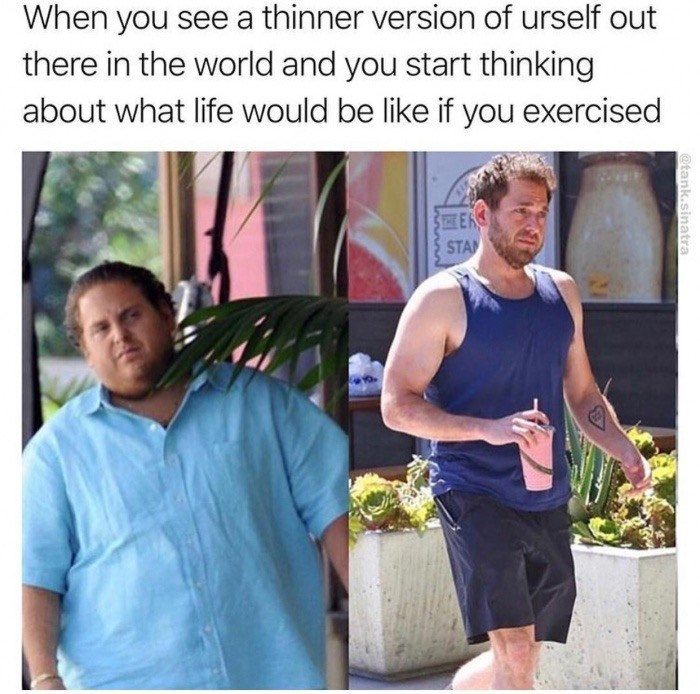 Thursday meme of Jonah Hills transformation from his weight loss