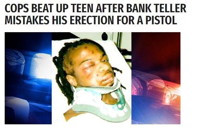 Thursday meme of a man beaten because his erection was mistaken for a weapon