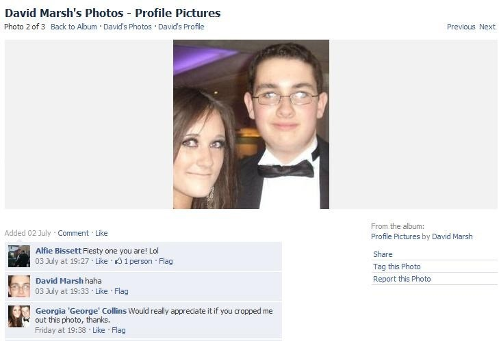 Girl asks dude to crop him out of the pic he used as his profile pic.